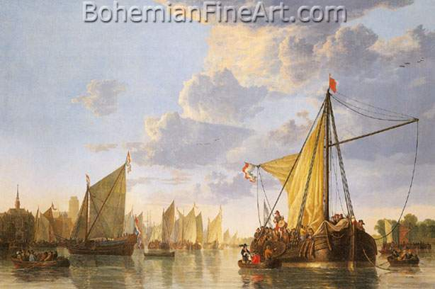 Aelbert Cuyp, The Maas at Dordrecht Fine Art Reproduction Oil Painting