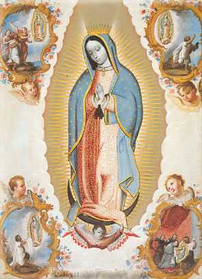 Cuzco School, The Virgin of Guadalupe Fine Art Reproduction Oil Painting