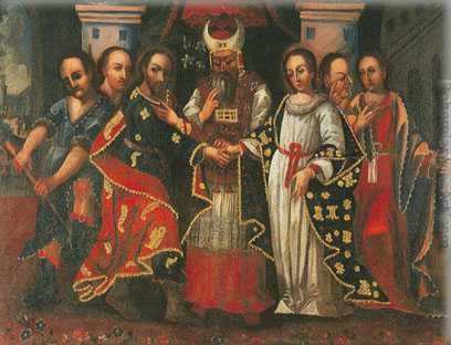 Cuzco School, The Virgin's Marriage Fine Art Reproduction Oil Painting