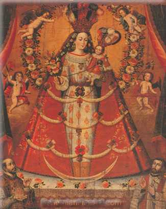 Cuzco School, Our Lady of the Rosary Fine Art Reproduction Oil Painting