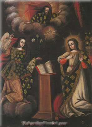 Cuzco School, Annunciation Fine Art Reproduction Oil Painting