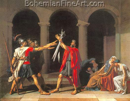 Jacques-Louis David, The Oath of the Horatii Fine Art Reproduction Oil Painting