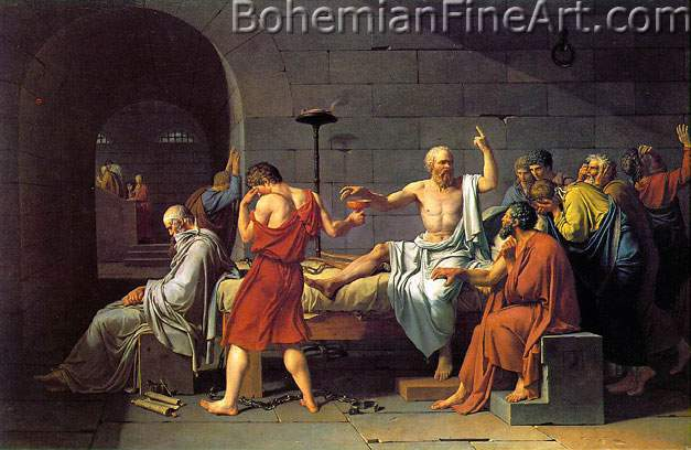 Jacques-Louis David, The Death of Socrates Fine Art Reproduction Oil Painting