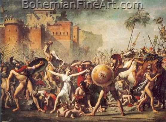 Jacques-Louis David, The Sabine Women Fine Art Reproduction Oil Painting
