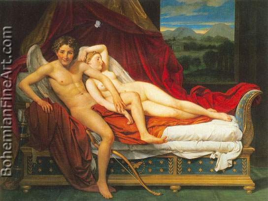 Jacques-Louis David, Cupid and Psyche Fine Art Reproduction Oil Painting