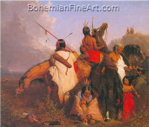 Charles Deas, A Group of Sioux Fine Art Reproduction Oil Painting