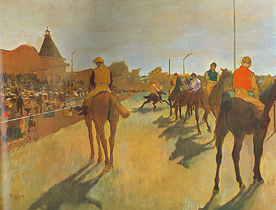 Edgar Degas, At the Race Course Fine Art Reproduction Oil Painting