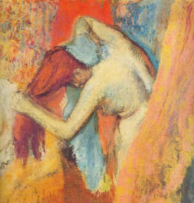Edgar Degas, Woman Drying Herself (Pastel on Paper) Fine Art Reproduction Oil Painting