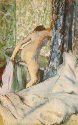 Edgar Degas, The Morning Bath (Pastel on Paper) Fine Art Reproduction Oil Painting