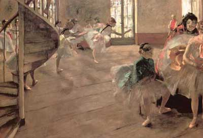 Edgar Degas, The Rehearsal Fine Art Reproduction Oil Painting