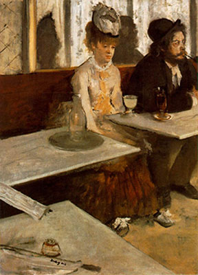 Edgar Degas, L'Absinthe Fine Art Reproduction Oil Painting