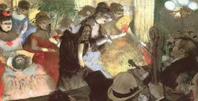 Edgar Degas, Cabaret (Pastel on Paper) Fine Art Reproduction Oil Painting