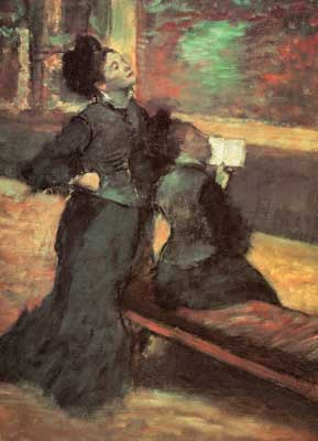 Edgar Degas, Visit to a Museum Fine Art Reproduction Oil Painting