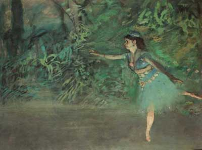 Edgar Degas, Dancer on the Stage Fine Art Reproduction Oil Painting