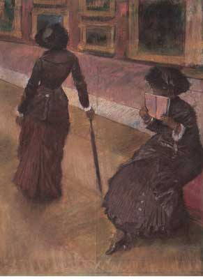Edgar Degas, At the Louvre Fine Art Reproduction Oil Painting