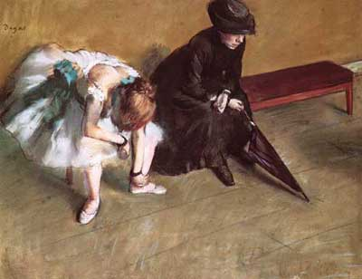 Edgar Degas, Waiting Fine Art Reproduction Oil Painting