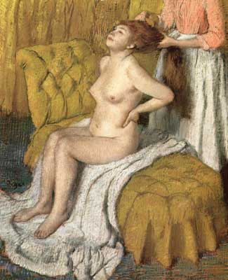 Edgar Degas, Woman Having her Hair Combed (Pastel on Paper) Fine Art Reproduction Oil Painting