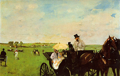 Edgar Degas, A Carriage at the Races Fine Art Reproduction Oil Painting