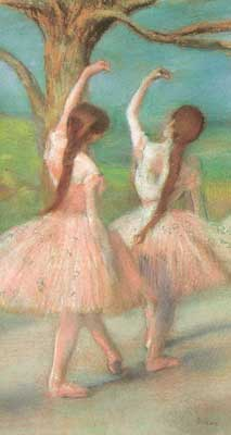 Edgar Degas, Dancers in Pink (Pastel on Paper) Fine Art Reproduction Oil Painting
