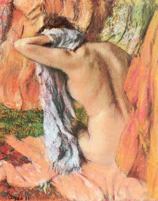 Edgar Degas, After the Bath (Pastel on Paper) Fine Art Reproduction Oil Painting