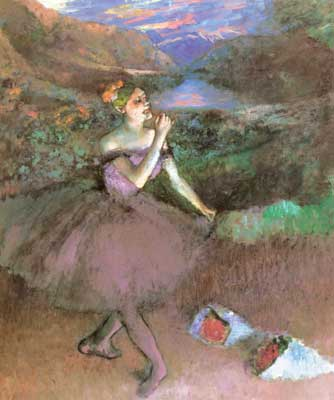 Edgar Degas, Dancer with Bouquets Fine Art Reproduction Oil Painting