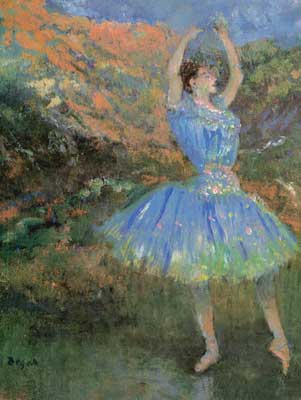 Edgar Degas, Blue Dancer Fine Art Reproduction Oil Painting