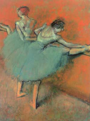 Edgar Degas, Dancers at the Bar Fine Art Reproduction Oil Painting