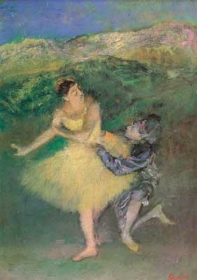Edgar Degas, Harlequin and Columbine Fine Art Reproduction Oil Painting