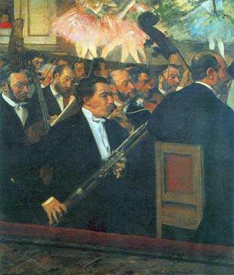 Edgar Degas, The Opera Orchestra Fine Art Reproduction Oil Painting