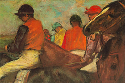 Edgar Degas, Jockeys Fine Art Reproduction Oil Painting