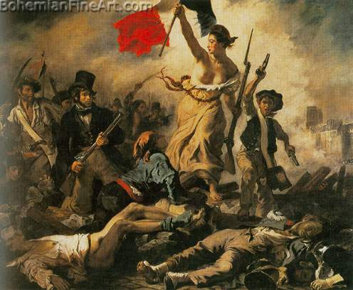 Eugene Delacroix, Liberty Leading the People Fine Art Reproduction Oil Painting