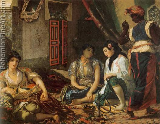 Eugene Delacroix, Women of Algiers in their Apartment Fine Art Reproduction Oil Painting
