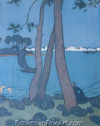 Maurice Denis, Pines at Loctudy Fine Art Reproduction Oil Painting