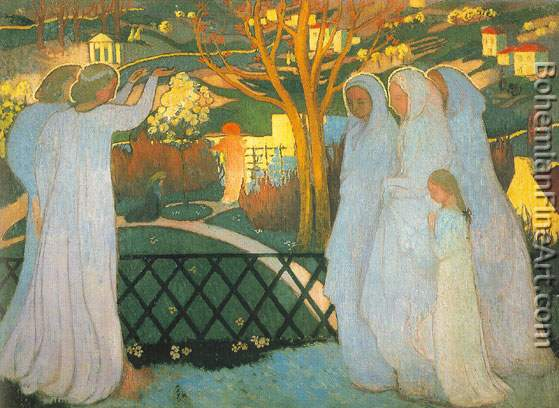 Maurice Denis, The Saintly Women at the Tomb Fine Art Reproduction Oil Painting