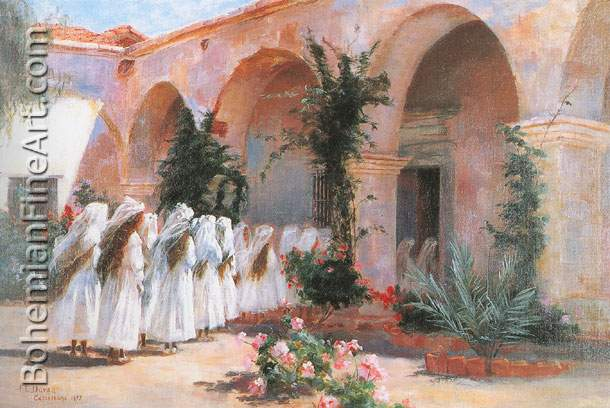Fannie Duvall, First Communion, San Juan Capistrano Fine Art Reproduction Oil Painting