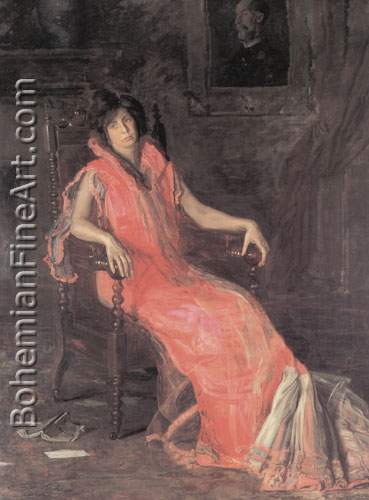 Thomas Eakins, The Actress (Portrait of Suzanne Santje) Fine Art Reproduction Oil Painting