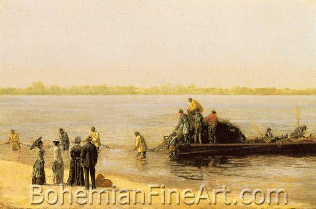Thomas Eakins, Shad Fishing at Gloucester on the Delaware River Fine Art Reproduction Oil Painting