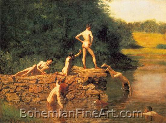 Thomas Eakins, The Swimming Hole Fine Art Reproduction Oil Painting