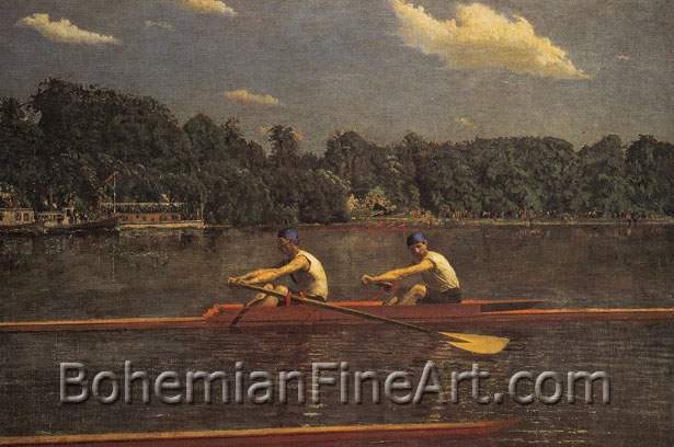Thomas Eakins, The Biglin Brothers Racing Fine Art Reproduction Oil Painting
