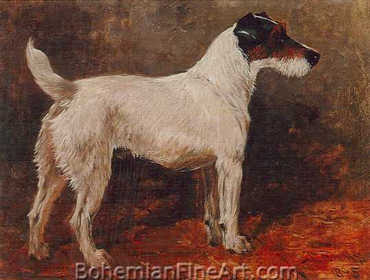 John Emms, Fox Terrier Fine Art Reproduction Oil Painting