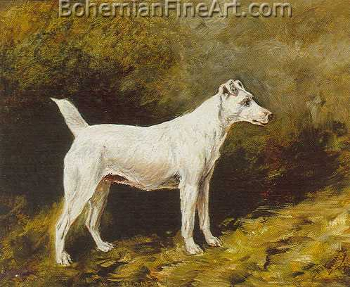 John Emms, Smooth Coated Fox Terrier Fine Art Reproduction Oil Painting