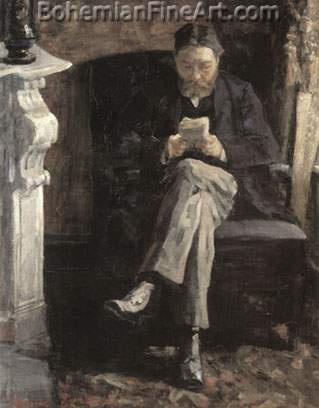James Ensor, Portrait of the Artist's Father Fine Art Reproduction Oil Painting
