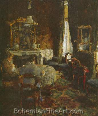 James Ensor, The Bourgeois Salon Fine Art Reproduction Oil Painting