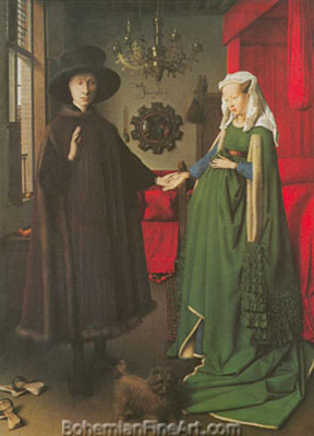 Jan Van Eyck, The Arnolfini Marriage Fine Art Reproduction Oil Painting