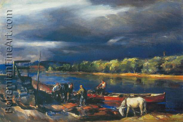 John Folinsbee, Storm Light Fine Art Reproduction Oil Painting