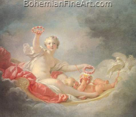 Jean-Honore Fragonard, Venus and Cupid Fine Art Reproduction Oil Painting