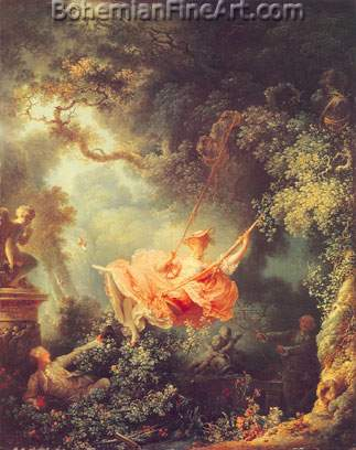 Jean-Honore Fragonard, The Swing Fine Art Reproduction Oil Painting