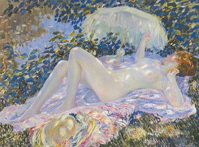 Frederick Frieseke, Venus in the Sunlight Fine Art Reproduction Oil Painting