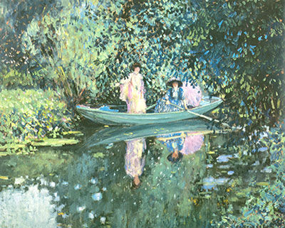 Frederick Frieseke, Two Ladies in a Boat Fine Art Reproduction Oil Painting