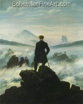 Caspar David Friedrich, The Wanderer above a Sea of Mist Fine Art Reproduction Oil Painting